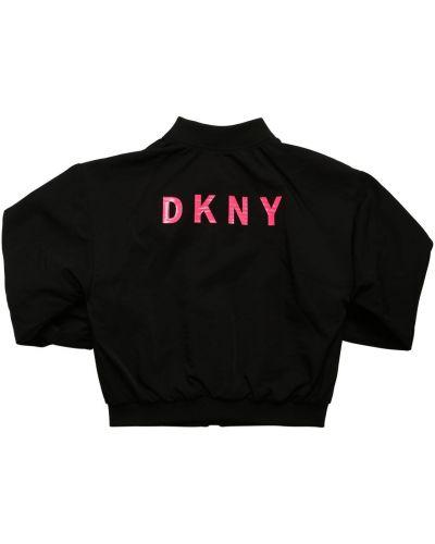 Бомбер с принтом - черная Dkny