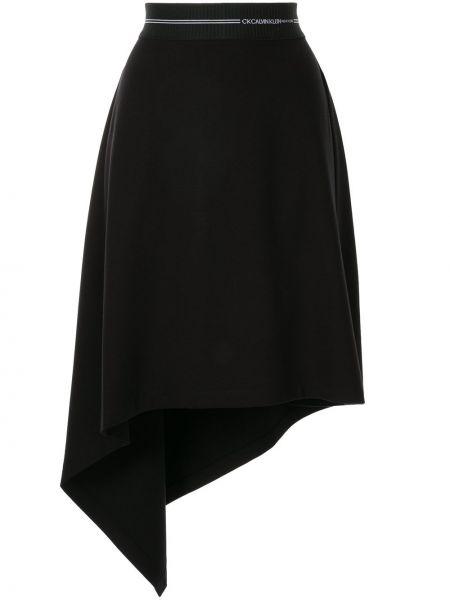 Юбка с завышенной талией - черная Ck Calvin Klein