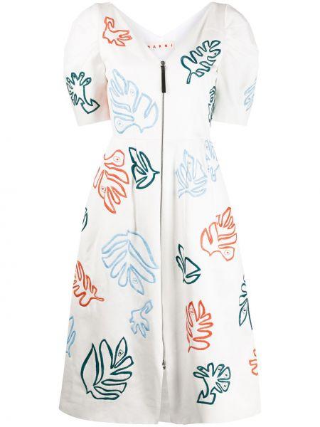 Платье мини миди с вышивкой Marni