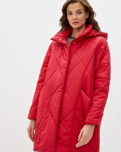 Теплая красная утепленная куртка Bruebeck