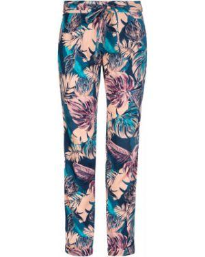 Облегченные прямые синие брюки из вискозы Termit