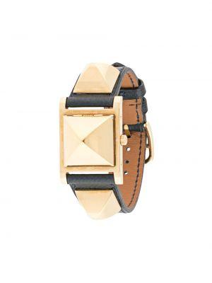 С ремешком кожаные синие часы Hermès