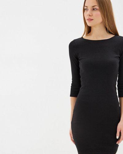 Платье футболка черное Ostin