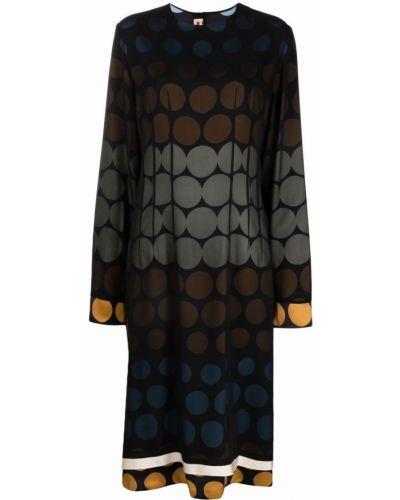 Шелковое платье миди - черное Marni