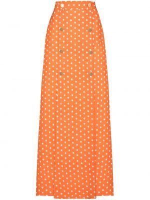 Юбка макси с карманами - оранжевая Adriana Degreas
