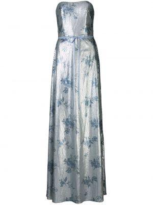 Вечернее платье с пайетками с цветочным принтом Marchesa Notte