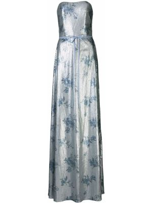 Вечернее платье с пайетками - синее Marchesa Notte