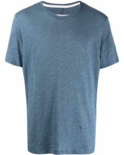 T-shirt bawełniana - niebieska Rag & Bone
