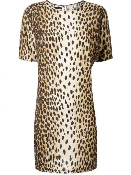 Платье мини леопардовое трапеция R13