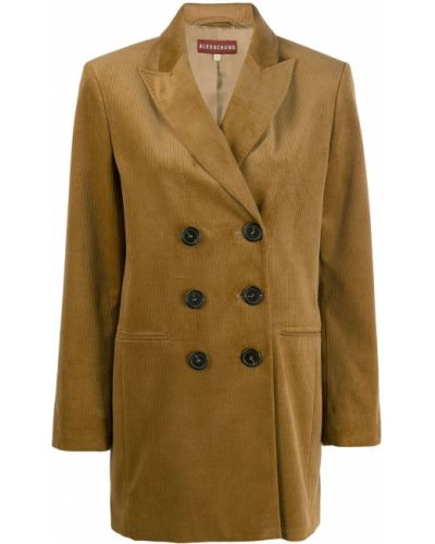 Длинная куртка вельветовая с карманами Alexa Chung