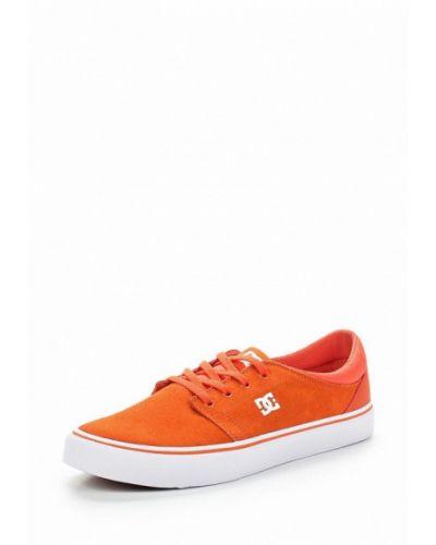 Оранжевые замшевые низкие кеды Dc Shoes