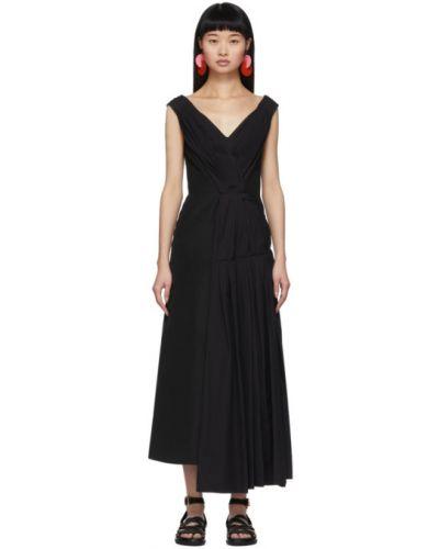 Платье с V-образным вырезом с отложным воротником Marni