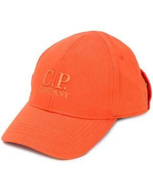 Czapka z logo pomarańczowy Cp Company Kids