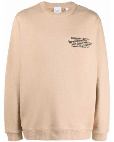 Beżowa bluza bawełniana Burberry