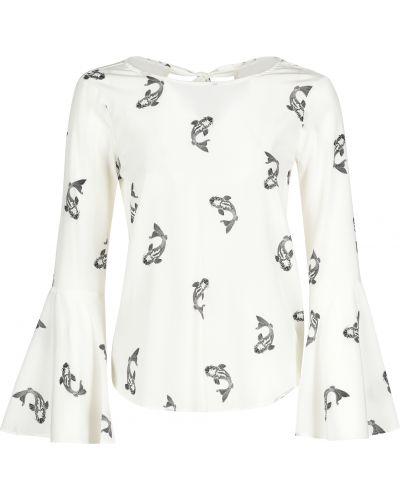 Блузка шелковая белая Van Laack