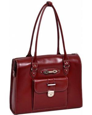 Czerwona klasyczna torebka skórzana Mcklein