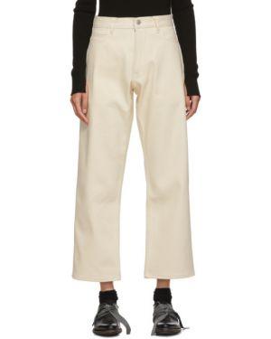 Серебряные широкие джинсы стрейч свободного кроя Studio Nicholson