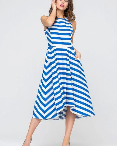 Прямое синее платье Yulia'sway