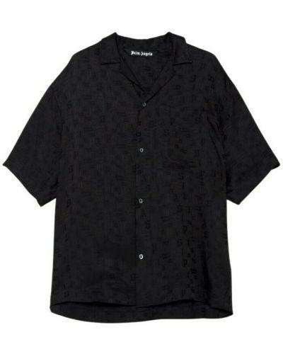 Koszula krótki rękaw - czarna Palm Angels