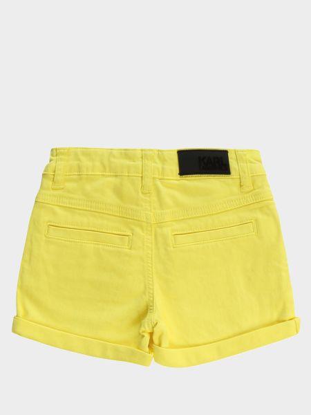 Желтые хлопковые шорты на пуговицах Karl Lagerfeld