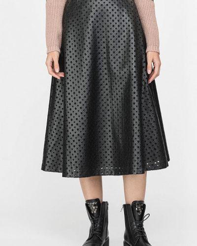 Черная кожаная юбка Gloss
