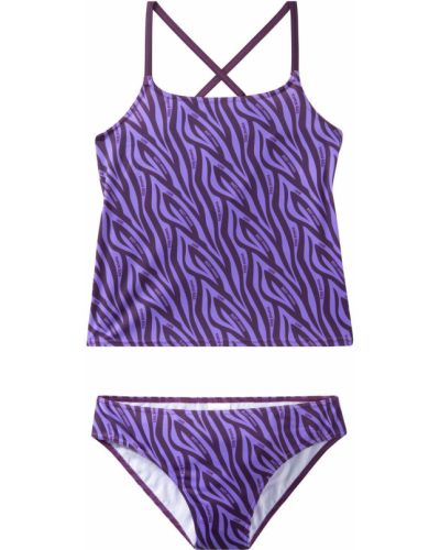 Фиолетовый купальник на резинке Bonprix