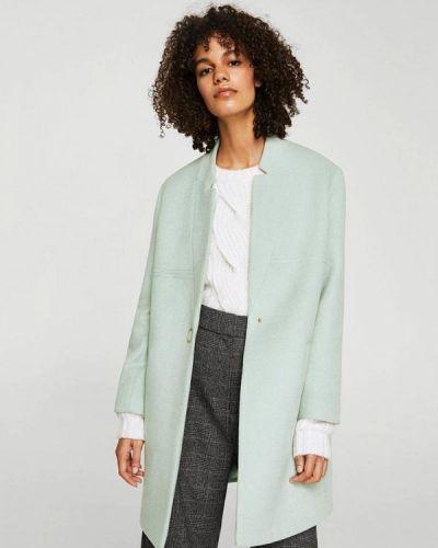 Голубое пальто весеннее Mango