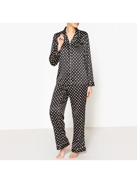 Пижама с брюками на пуговицах в горошек La Redoute Collections