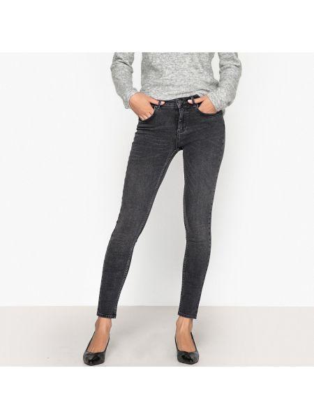 Хлопковые джинсы-скинни с карманами с пайетками на пуговицах Reiko