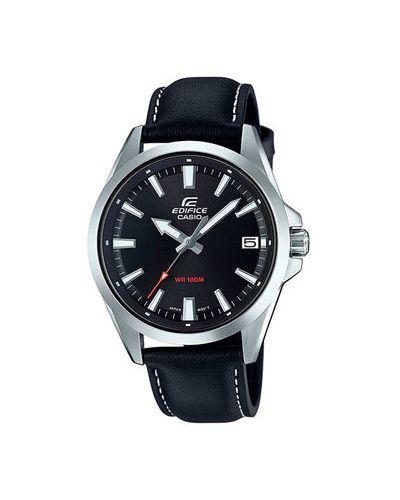 Часы водонепроницаемые с кожаным ремешком кварцевые Casio