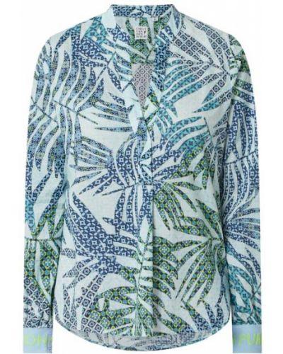 Bluzka bawełniana turkusowa Emily Van Den Bergh
