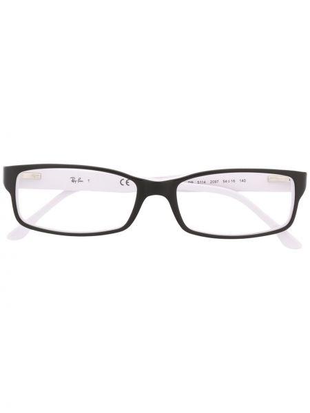 Prosto czarny oprawka do okularów prostokątny Ray-ban