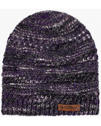 Фиолетовая шапка осенняя Flioraj