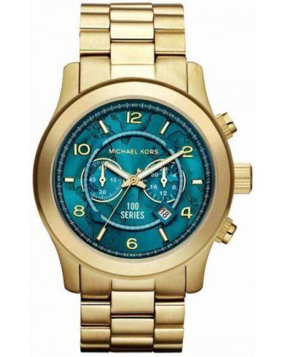 Żółty złoty zegarek kwarcowy elegancki Michael Kors
