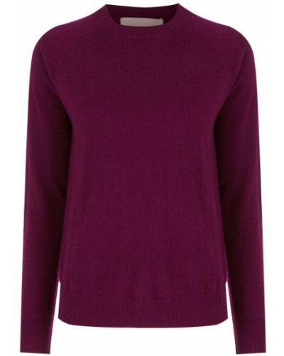 Фиолетовый кашемировый длинный свитер круглый Egrey