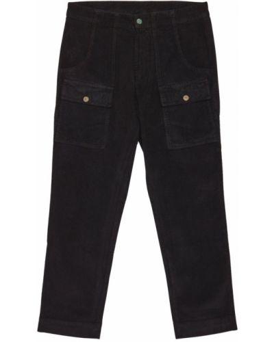 Czarne spodnie sztruksowe Palm Angels