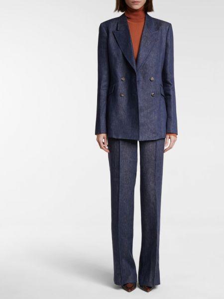 Льняной синий пиджак Gabriela Hearst