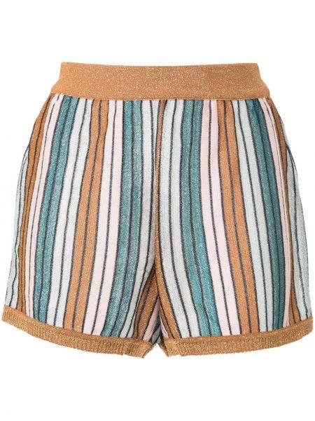 Однобортные короткие шорты эластичные металлические Suboo
