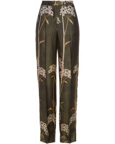 Прямые зеленые брюки с поясом F.r.s. For Restless Sleepers