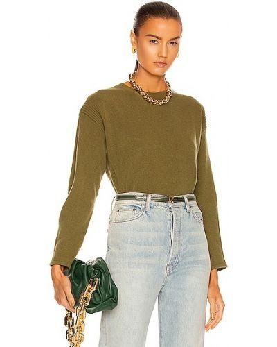 Кашемировый свитер - зеленый Alberta Ferretti