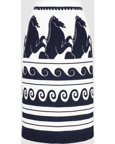 Белая юбка миди Vionnet