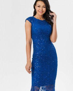 Вечернее платье осеннее синее Pavesa