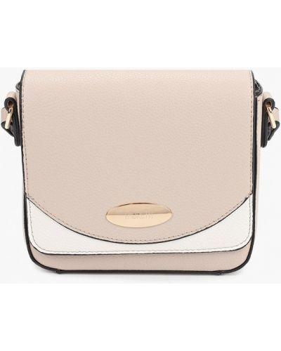 Розовая кожаная сумка через плечо Fabretti
