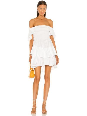 Хлопковое платье - белое Elliatt