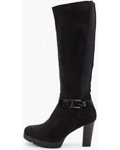 Ботинки на каблуке черные осенние Queen Vivi
