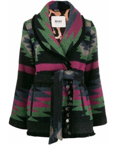 Длинное пальто с запахом на кнопках Bazar Deluxe