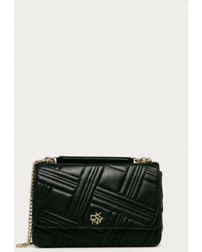 Czarna torebka pikowana Dkny