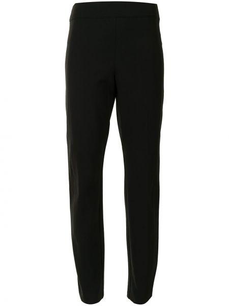 Prosto czarny nylon klasyczne spodnie z kieszeniami Spanx
