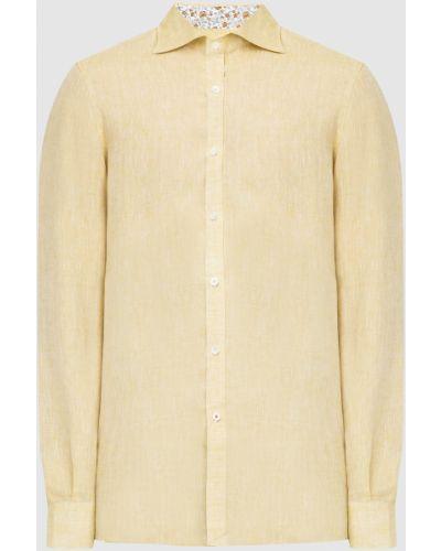 Льняная рубашка - желтая Isaia