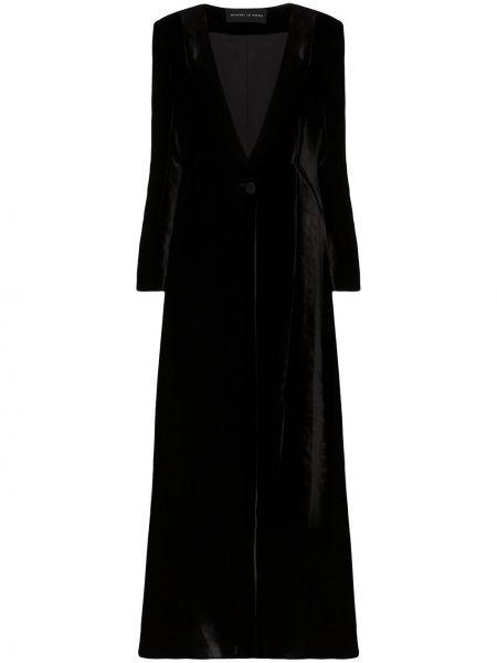Шелковое черное длинная куртка на пуговицах Michael Lo Sordo